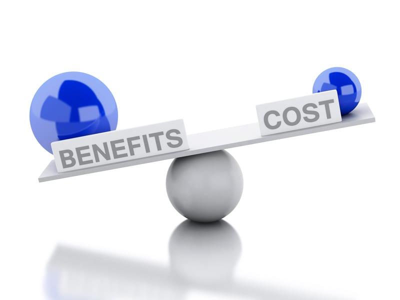 cost versus benefits